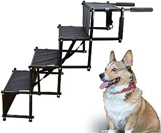 ペットステップ ペットスロープ 犬用踏み台 ペット階段 犬のはしご 車への乗降 高さ調節可能 ポータブル 防水 滑り止め 洗える 高低差のある場所で活躍 ラック/SUV/ソファ/ベッド/玄関/ドライブ/庭に適用