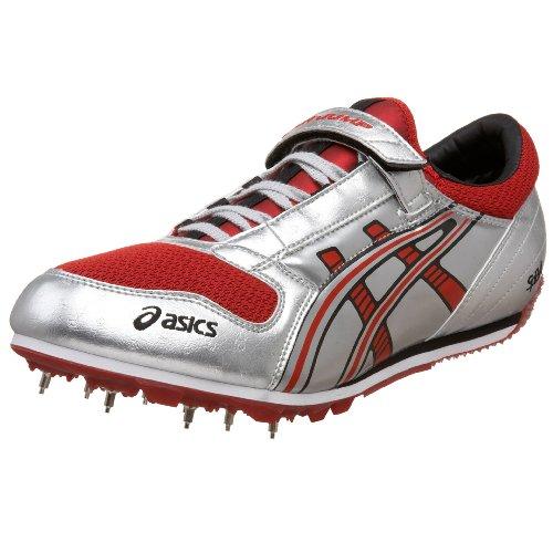 ASICS Cyber Jump Beijing, Herren Baseballschuhe Silber Lightning/Black/Fire Red, Silber - Lightning/Black/Fire Red - Größe: 47