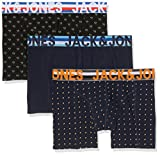 Jack & Jones Jachenrik Trunks 3 Pack Noos Bóxer, Multicolor (Black Detail: Navy Blazer & Navy Blazer), Large para Hombre