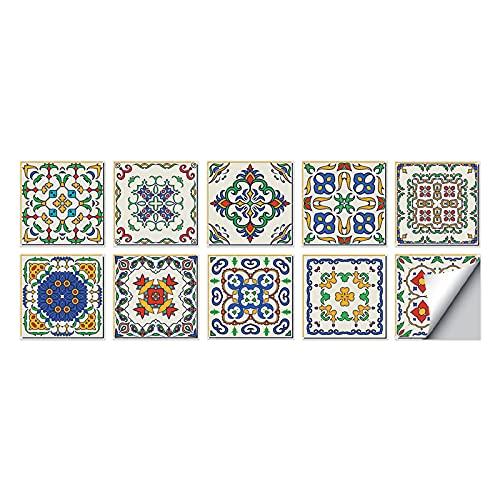 10 pegatinas adhesivas de la película 2D para azulejos que cubren la capa fina para azulejos de baño o cocina.