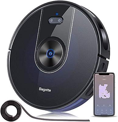 "Robot Vacuum, Bagotte 2200Pa Robotic Vacuum Cleaner, Wi-Fi Connected, App, Alexa Control, Self-Charging, 2.7"" Super Thin for Pet Hair, Hardwood Floor and Carpet"