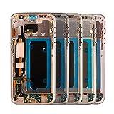 GUOQING Schermo Display Frame Originale Assemblea di Schermo 5.1 '' for Galassia S7 G930 G930F G930FD LCD AMOLED Display Touch Screen Schermo di Ricambio per Galaxy (Color : White with Frame)