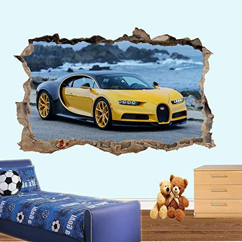 Pegatinas de pared Coche deportivo Etiqueta de la pared 3D Art Deco Office