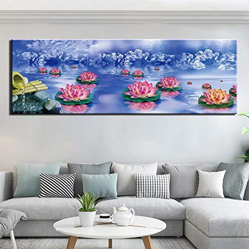zgldx73 Wohnkultur Leinwand Malerei abstrakte Blumen Wandbild Leinwand Malerei Moderne Wandbild für Wohnzimmer30x90cm Kein Rahmen