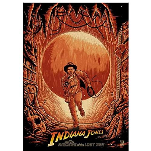 djnukd Póster Indiana Jones Home Painting Wall para Coffee House Bar 40X60Cmx1 Sin Marco