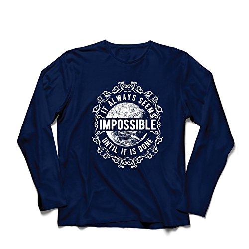 lepni.me Heren T-Shirt Give Up - Het lijkt altijd onmogelijk totdat het klaar is