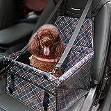 MATEPROX Asiento Elevador de Coche para Mascotas, Oxford Transpirable Plegable Asiento de Coche para Perro para La Seguridad, Portátil, Impermeable, Bolsas de viaje para perros pequeños/medianos