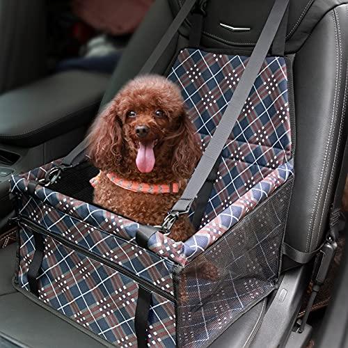 MATEPROX Seggiolino Auto per Animale Domestici, Ripetitore per Auto per Cani Pieghevole, Impermeabile Oxford per Sicurezza Portatile Seggiolino Auto per Cani di Piccola/Media Taglia