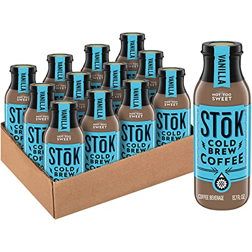SToK Cold Brew Coffee, Vanilla, 13.7 oz. Bottle (Pack of 12)