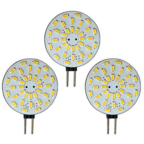 Preisvergleich Produktbild 3x Stück - G4 LED dimmbar mit 2 Watt (36x SMDs) 12V AC / DC 120° Grad (rund) Leuchtmittel G4 Lampensockel Spot Halogenersatz Lampe Dimmer