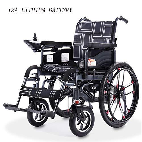 DAZHONG Dispositivo di Mobilità Elettrico, Pieghevole per Adulti Elettrico, per disabili, per Persone anziane, portatori di Handicap e disabili,12Alithiumbattery