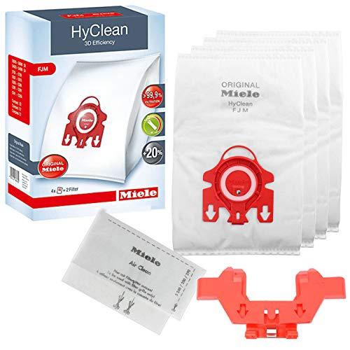 Genuine Miele FJM Hyclean Efficiency Vacuum Cleaner C2 Compact S6210 S6240 S6290 Dust Bags + Bag Holder
