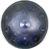 Thumue Drum in acciaio, Handpan Tongue tamburo 10 Note 22 pollici a percussione del tamburo con borsa da viaggio Tamburo di forma del piatto, tamburo a mano