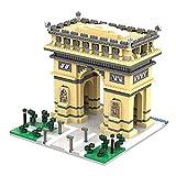 Micro Mini Blocks ARC De Triomphe Building Model Set Famous Architecture Toys Regalos para Niños/Adultos Regalos Educativos, 2020 PCS