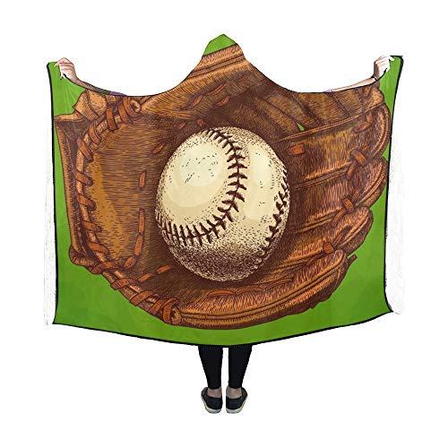 Yushg Manta con Capucha Manta de Guante de béisbol con Grab