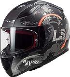 LS2 - Casco Integral para Moto Rapid Circle Mate Titanio neón Naranja M