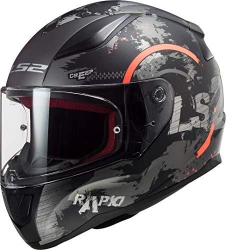LS2 Herren NC Motorrad Helm, Schwarz/Orange, M
