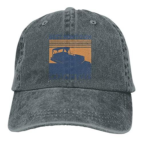 gymini Best Pontoon Captain Ever-Baseballkappe, gewaschen, verstellbar, Baumwolle, Unisex, Sportmütze, Trucker, Cowboy-Cap