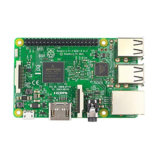 Raspberry Pi 3 Model B, Motherboard Quad Core 1.2GHz 64bit CPU 1GB RAM Single-board Computer with Wireless LAN and Bluetooth Connectivity