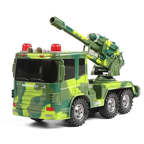 Lihgfw Übergroße Fernbedienung Auto kann Kinderkanonenspielzeug Laden Mobile Tank Modell Jungenauto 360 ° Manöver (Color : Camouflage Green, Größe : 1 Battery)