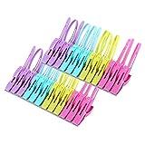 PFGO 24 Stück Strandtuch-Clips, Kunststoff-Clips zum Aufhängen, Clips für Strandkorb oder Poolliegen auf Ihrer Kreuzfahrt, halten Sie Ihr Handtuch davon weg, modische leuchtende Farbe, Jumbo-Größe