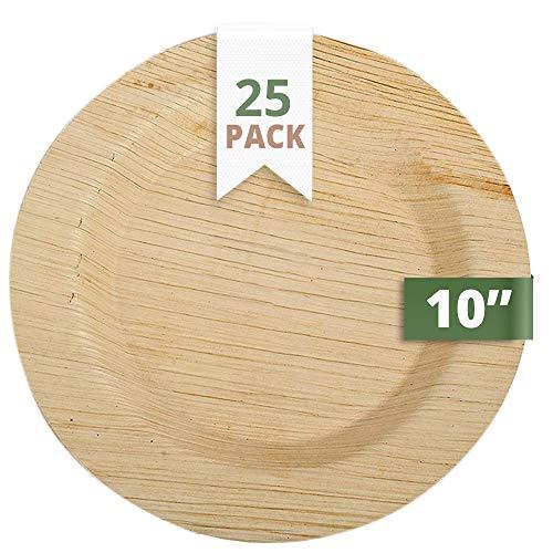 CaterEco 25 Deluxe Palmblatt Einwegteller, 25 cms | kompostierbares Einweggeschirr für Hochzeit, Büro und Festen | Bio Einweggeschirr biologisch abbaubar Partygeschirr Einmalgeschirr Wegwerfgeschirr
