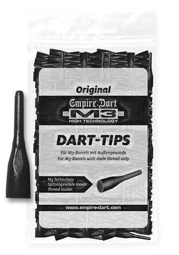 Empire Dart Softdartspitzen, M3, kurz, schwarz, 1000 Stück, 29053