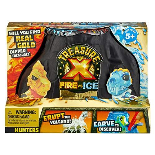 TREASURE X 41606 Fire Vs Ice Hunters Paquete único de Estilos Varian, Color Negro