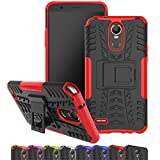 LG Stylo 3 Case, Viodolge [Shockproof] Hybrid Tough Rugged Dual Layer Protective Phone Case Cover with Kickstand for LG G Stylo 3/ LG Stylus 3(2017 Released) (red)