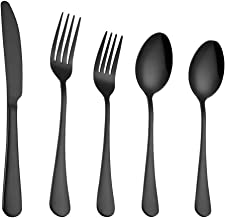 Set Stainless Steel Upscale Dinnerware Flatware Cutlery Fork Spoon Teaspoon 6x 5PCS Great for Family Gatherings & Daily Use – Spoons, Knives, Teaspoons, Forks