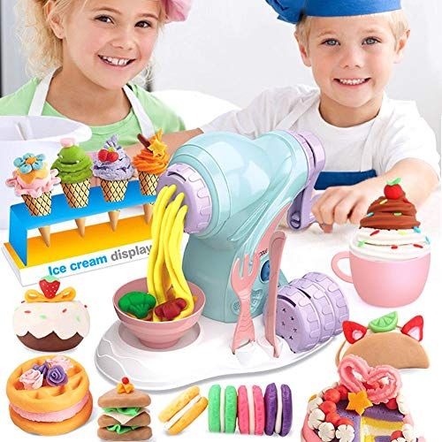 vogueyouth DIY Farbe Ton Manuelle Nudelmaschine Kit, multifunktionale EIS Plastilin Werkzeug Spielhaus Spielzeug Spielset für Kinder