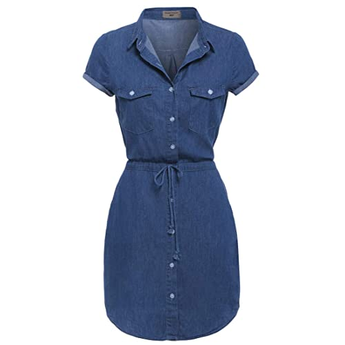 f1be2d89f9e SS7 New Denim Blue Shirt Dress Sizes 8-14 (UK - 16