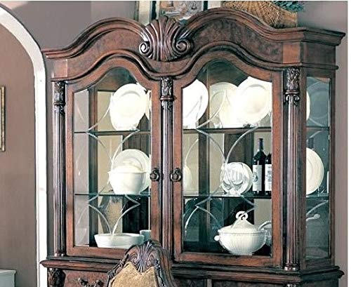 Coaster Saint Charles Traditional Brown China Cabinet Hutch