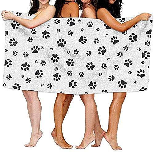 LUYIQ Toalla de Playa Grandes de Antiarena de Microfibra para Hombre Mujer, Pie de Perro -150x70cm, Toallas Baño Secado Rapido para Piscina, Manta Playa, Toalla Yoga Deporte Gimnasio