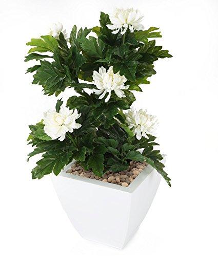 Closer To Nature FT029WB - Chrysanthème artificiel blanc de 66 cm