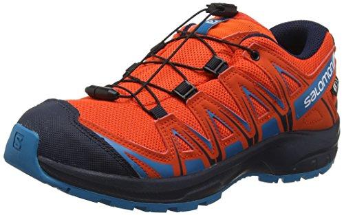Salomon Enfant XA Pro 3D CSWP J, Chaussures de Trail Running, Imperméable, Vert (Acid Lime/Surf The Web/Tropical Green), Taille 31