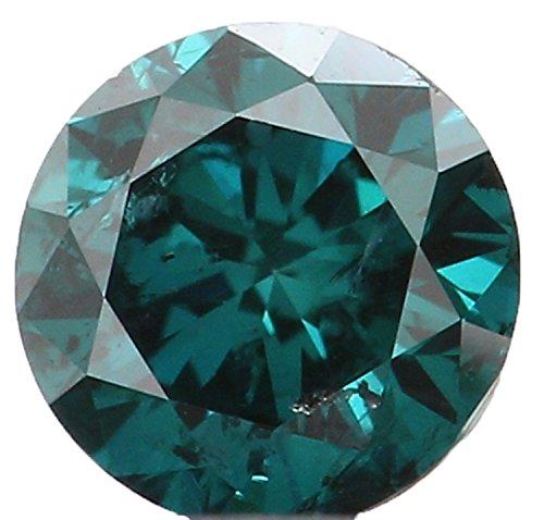 天然ルースダイヤモンド ラウンド 緑がかった青色 I3 クラリティ 3.54MM 0.18 Ct KR328