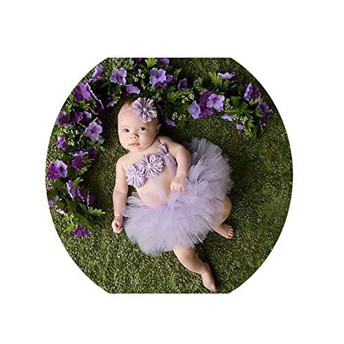 Ouuager-Home Baby Kostuum Prop Baby Fotografie Prop Baby Tutu Rok Pasgeboren Kostuum Bow-knoop Jurk Outfits Met Hoofdband Pasgeboren Fotografie Props