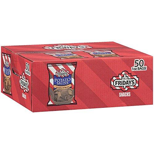 T.G.I. Friday's Cheddar & Bacon Potato Skins Snack Chips - 1 oz. - 50 ct. by T.G.I. Friday's
