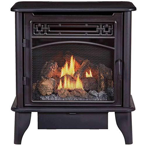 ProCom PCNSD25TA Dual Fuel Gas Stove 3-Sided, 23,000 BTU, Black