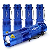 5 Pack Mini Flashlights LED Flashlight 300lm Adjustable...