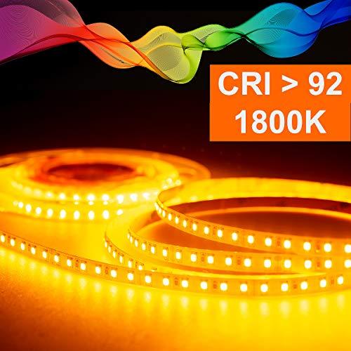 LED Strips mit Amberlicht 1800K Mextronic LED Streifen LED Band LED Strip 2835 Amber (1800K) CRI 92 72W 5 Meter 24V IP20