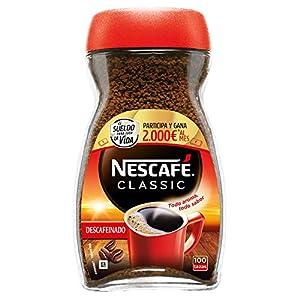 NESCAFÉ CLASSIC DESCAFEINADO todo aroma y sabor, café soluble descafeinado, frasco de cristal 200g
