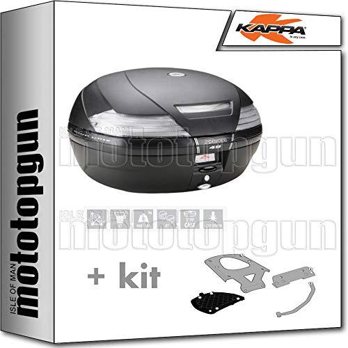 kappa maleta k49nt 47 lt + portaequipaje monokey compatible con yamaha xenter 125 150 2020 20