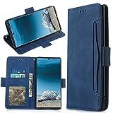für Samsung Galaxy A12 Hülle Flip Lederhülle, Samsung Galaxy A12 Handyhülle Book Hülle PU Leder Etui Tasche Hülle mit Kartenfach Ständer & Magnet Schutzhülle Bumper für Samsung Galaxy A12 Blau