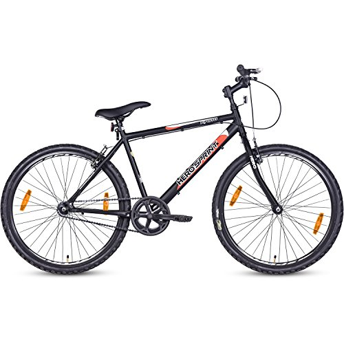 Hero Kyoto 26T Single Speed Mountain Bike (Black, Ideal For : 12+...