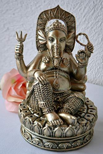 Maison en France Ganesha- edle Figur- Überbringer der Weisheit und des Glücks auf Einem Lotosthron, sehr Gute...