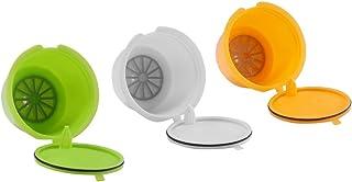 FreeLeben Capsules de Café Rechargeables, 3pcs Filtre à Café Universel Réutilisable de Machine de Dolce Gusto Sans BPA, av...