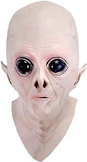 Amosfun Maschera UFO Maschera Testa aliena in Lattice per Adulti in Maschera per Feste in Costume Cosplay