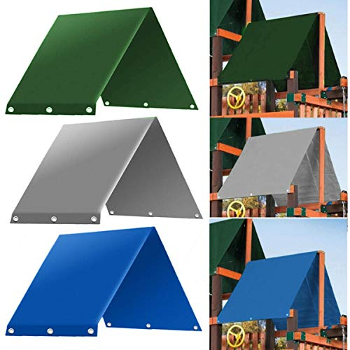 """SEVENMORE 52"""" x 90"""" Playground Replacement Canopy, 52"""" x 90"""" Outdoor Swingset Shade Kids Playground Roof Canopy Waterproof Cover Snow Proof Tent Replacement Tarp Sunshade"""